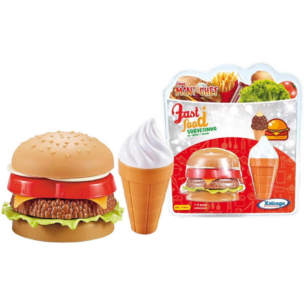 MINI CHEF FAST FOOD SORVETINHO