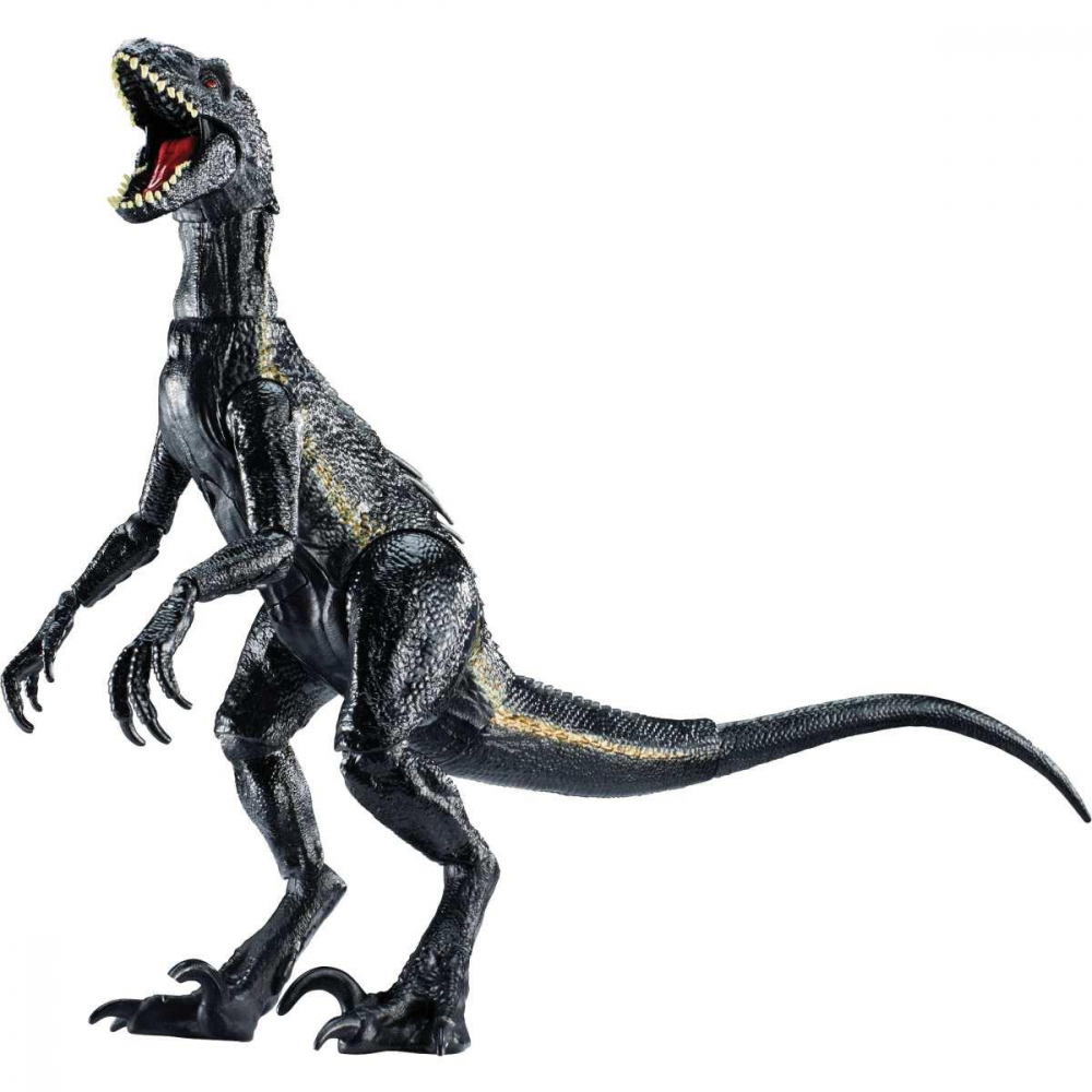 BONECO E PERSONAGEM JURASSIC WORLD INDORAPTOR VIL