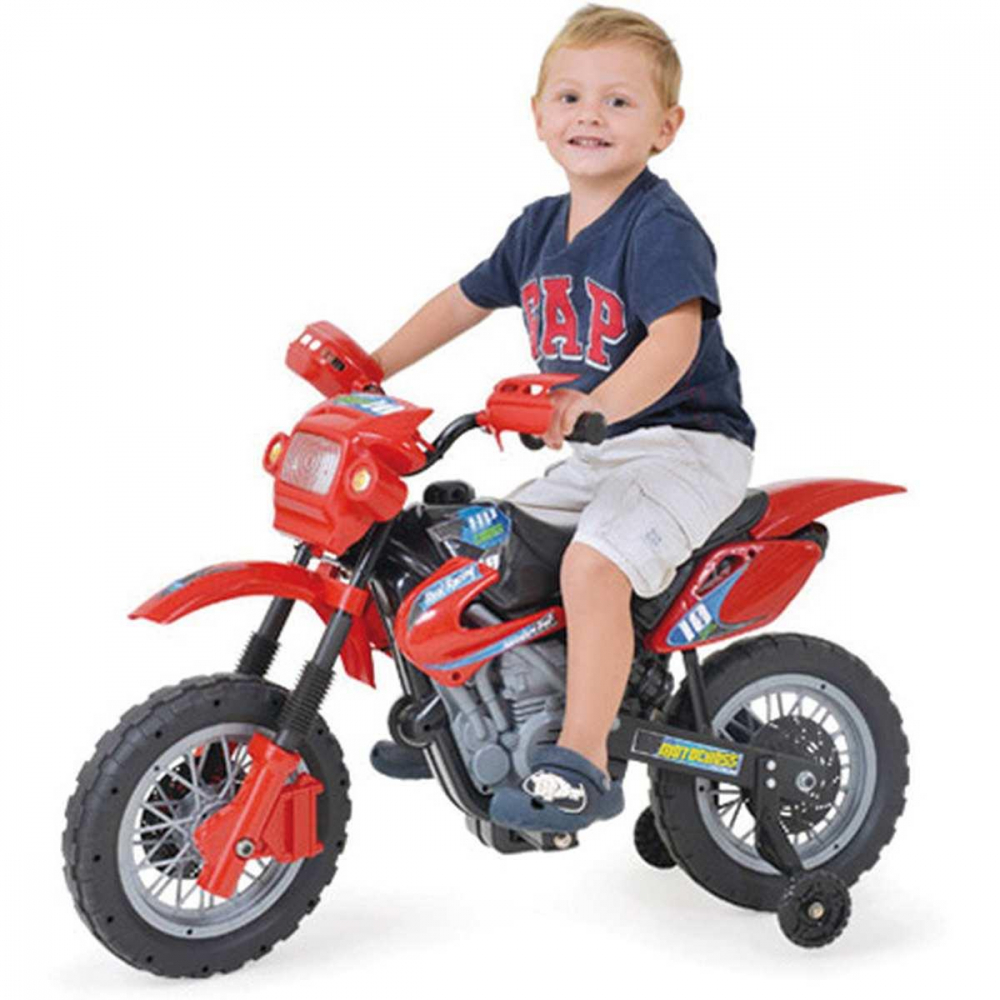INFANT. MOTOCROSS 6V VERMELHA